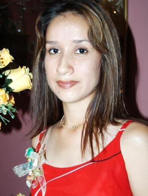 Martha Alicia Contreras Ruelas, captada en su despedida de soltera.