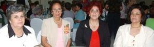 Nena de la Rosa de Hernández, Odilia de Campos, Leyla de Rodríguez y Martha E. Martínez.