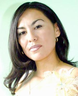 Sandra Rodríguez Hernán el día de su despedida de soltera.