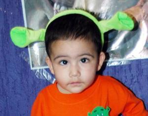 José Antonio Cervantes Calderón, captado en la fiesta infantil que se le ofreció por su cumpleaños.