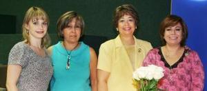 Angélica de Habib, guadalupe de Aguilera, Lupita de Lara y Maris de Morales
