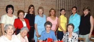El Club de Mujeres Profesionistas se reunieron para festejar a Noemí Marín y Cristina de Monfort por sus respectivos cumpleaño