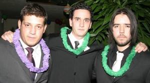 Roy Dingler, Javier Félix y José Ganem.