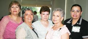 <u><i> 14 de septiembre de 2004</u></i><p>  María del Rosario Hernández, Rosaura Simental, Blanca Liliana Larrañaga, Juanis Domínguez y Verónica Reynoso.