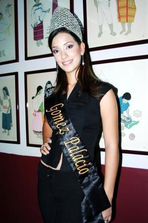 Ana Isabel Muñoz Ortiz representará a Gómez Palacio en el certamen  Señorita Turismo Durango 2004..jpg