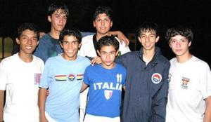 Pedro Favela, Irving Morell, Gerardo García, Marcos, Antonio Maul, Ricardo Rodríguez y Roberto Pérez.