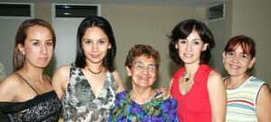 <u><i> 18 de septiembre de 2004</u></i><p>  Maribel Carrera, Graciela EMnchaca, Graciela de Montellano, Alejandra Montellano y Sandra Montellano.