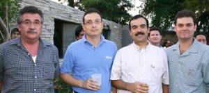 Miguel Ángel Castañeda, Ernesto Oviedo, Fernando Orozco y Camilo Mexen.