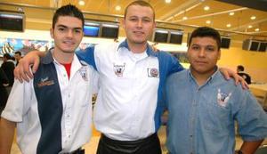 Raúl Vásquez, Édgar Ortega y Víctor Ontiveros.