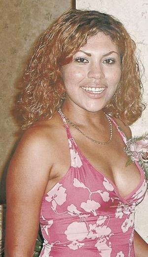 Fabiola Rubio Galindo el día de su despedida de soltera