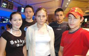 Víctor Garza y Alfonso Cristina, Luis y Carla Aspiazu.