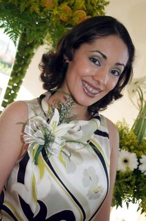 Consuelo Ramos Álvarez, captada en su despedida de soltera.