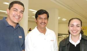 Alejandro Santín, José Cabrales e Ivonne García regresaron de la Ciudad de México.