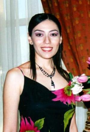 Evangelina Magallanes Delgado, en su despedida desoltera.