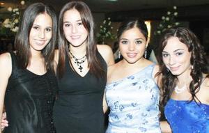 Maribel Ochoa, Paulina Madero, Marcela Jaime y Naty Garza.