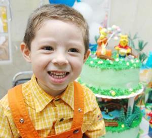 Pietro Agusto Moreno Medina, captado en su fiesta de cumpleaños.