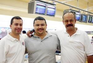 José Bernardo Barrientos, Luis Sergio Sánchez y roberto Gutiérrez.