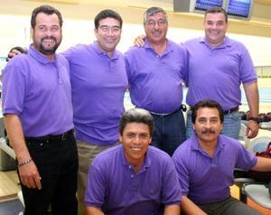 Jorge Enderi, Javier Palacios, José A, MEsta, Jorge López Rubio, Andrew Gilbert y Víctor Morales.