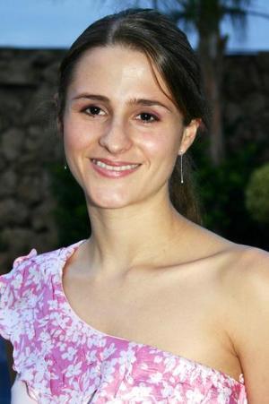 Doralicia Valdés González, captada en una de sus despedidas de soltera.