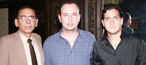 Ernesto Huevard, Roberto Jiménez y Wilde Llanes.