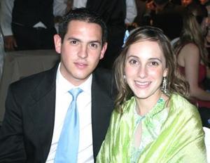 Pimpo Garza Borrego y Bárbara Berlanga.