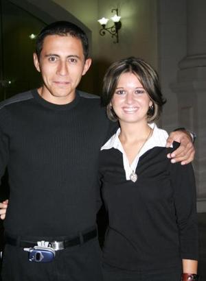 Cuahtémoc Morelos y Alejandra Sarabia.