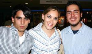 Javier Murgía, Sofía Negrete y Sergio Garza.