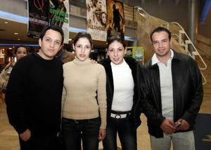 Sergio Villarreal, Karina González, Diana y Benito Guevara
