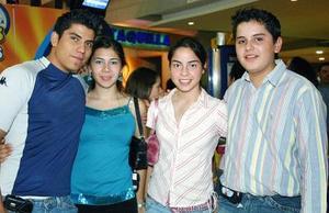Juan Miguel Butanda, Mariana Quintero, Lorena Quintero y Mario Alberto Batanda.
