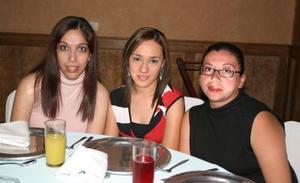 Pilar Madrazo, Blanca Hernández y Beatriz Elizalde.