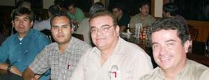 José Sánchez, Iván Sanfdoval, Roberto López y Juan Quintanilla González.