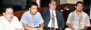 <u><i> 02 de octubre de 2004</u></i><p>  Roberto Ibarra, Manuel Gallo, Benito Arellano y Víctor Andrés guevara Rodríguez.