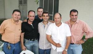 Eddy González, Güero González, José Carzó, Ito Barrios, Beto López y Federico von Bertrab