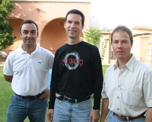 Jorge Carzó, Benjamín Díaz y José Revuelta