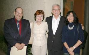 Luis Azpe Pico, Carola Sánchez, Alberto González Domene y Cristina Sánchez