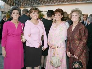 Miriam Tafich de Issa, Blan ca Estela González, Luz María González e Hilda Kawas de Zarzar