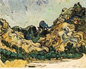 La casa de subastas espera que cada una de estas pinturas alcance un precio de entre 12 y 18 millones de dólares en la puja neoyorquina.  <p> Este cuadro se titula Montañas de San   Remy