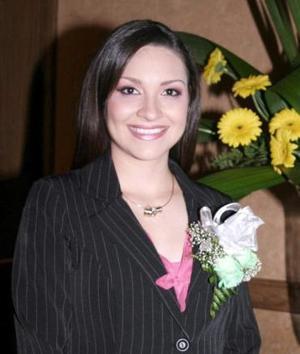 Silvia Denice Leal Romo, en su despedida de soltera.