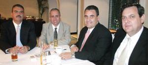 Edelmiro Garza Leal, Jaime Díaz de León, ricardo Handam y Eduardo Aris.