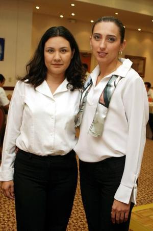Ciginia Hernández Barriada y Alejandra Castañeda Vázquez