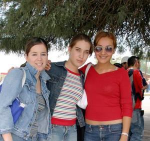 Cristy Berrueto, Perla Castañeda y Ruby Parra