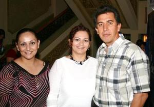 Eduardo Manzanera, Lupita Ramírez de Manzanera y Mayela Ramírez O
