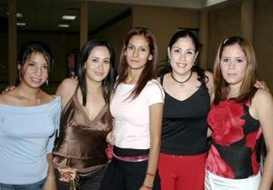 Elisa García Esparza, Sofía y Claudia Durán, Blanca Martínez Flores y Samanta García Villarreal