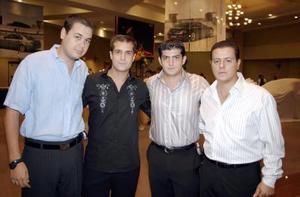 Ignacio Pámanes, Jorge Cid, Yussef Mansur y Antonio Juan Marcos Villarreal