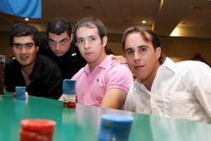 Maolo Luévanos, Óscar Valenzuela, Miguel Soler y Ángel Arratia
