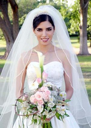 Arq. Aída Cecilia Salmón Abraham el día de su enlace matrimonial con el Lic. Baltazar Villarreal Mena.