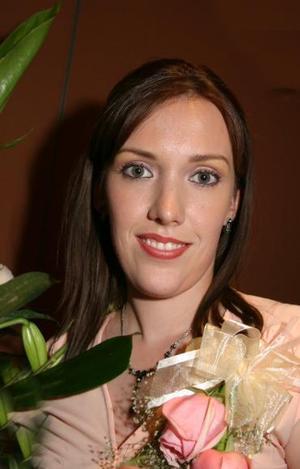 Ana Cristina Sandoval Yarza, captada en su despedida de soltera.
