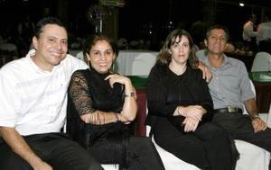 Rocío Michel de González, Rocío de Anda, Ricardo Cuadros y Ricardo González.