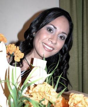 Cristina Pizarro en su despedida de soltera.