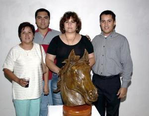 Guillermo García Ochoa, Miguel Ángel García , Alejandra Huerta y Rosario Ochoa.